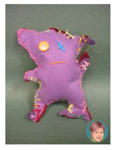 Sewing ugly doll monsters with kids is a great art integration activity. Let the kids plan the design, create the pattern, sew the doll and add a writing extension to it and it's the perfect lesson!