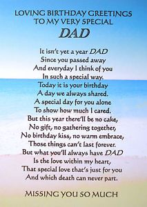 First Birthday in Heaven Memorial | A5-1st-BIRTHDAY-BEREAVEMENT-MEMORIAL-GRAVE-CARD-DAD-MUM-GRANDAD-NAN ...