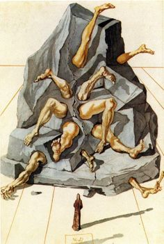 """""""Abandon hope, all ye who enter here. ― Dante Alighieri, The Divine Comedy The Simonists, from Salvador Dali's illustrations for The Divine Comedy."""