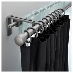 RÄCKA/HUGAD Double curtain rod set – IKEA Affordable rod system for sheer plus blackout curtains Ikea Curtains, Thick Curtains, Curtains Living, Hanging Curtains, Curtains With Blinds, Blackout Curtains, Burlap Curtains, Bedroom Curtains, Diy Bedroom