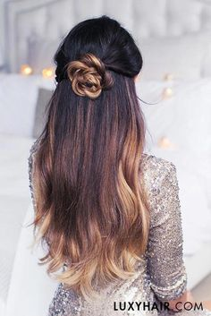 21 Pretty Rose Hairstyles for Long Hair - Ideas from Daily to Special Occasion ★ See more: http://glaminati.com/rose-hairstyles-for-long-hair/