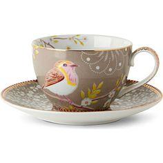 Tea Cups And Saucers | Khaki tea cup and saucer - PIP STUDIO | selfridges.com