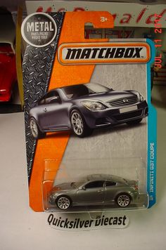 Matchbox Infiniti G37 Coupe Grey 2016 32 BP