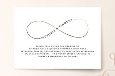 Our wedding invitations. Simple but gorgeous. Infinity symbol - twin flames