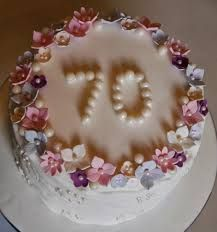 70th Birthday Cake Ideas For Mum