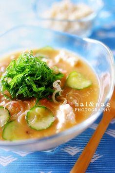 HIYAJIRU cold miso soup with rice