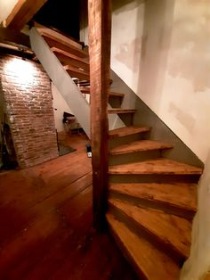Custom stairs made from aged and reclaimed wood Nova Scotia, Old Houses, Restoration, Stairs, Wood, Home Decor, Old Homes, Ladders, Homemade Home Decor