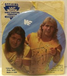 (TAS030170) - WWF WWE TitanSports Wrestling Button - The Rockers - HBK