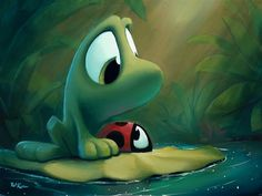 Friends Along The Way by artist Rob Kaz Frog Pictures, Cute Pictures, Cute Animal Drawings, Cute Drawings, Baby Animals, Cute Animals, Nature Animals, Disney Artists, Mushroom Art