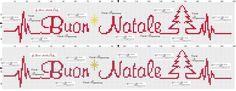 strofinaccio Buon Natale a punto croce con battito cuore ❤️
