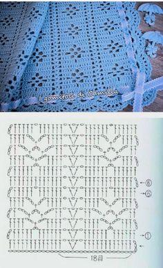 Hexagon Crochet Pattern, Crochet Bedspread Pattern, Crochet Stitches Patterns, Crochet Diagram, Crochet Chart, Filet Crochet, Baby Blanket Crochet, Crochet Motif, Crochet Designs