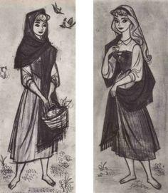 fancysomedisneymagic:  Concept Art for Princess Aurora Sleeping Beauty