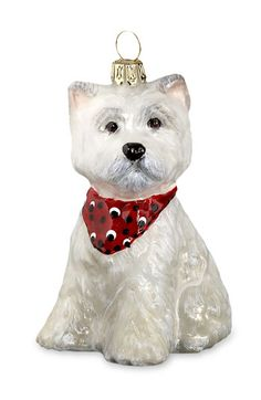 Chase finally found a boy Westie ornament! He bought it at Nordstrom in Seattle