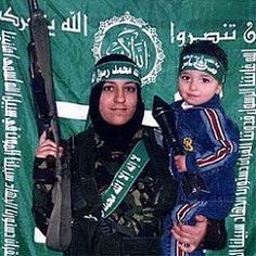 Muslim mommy and child