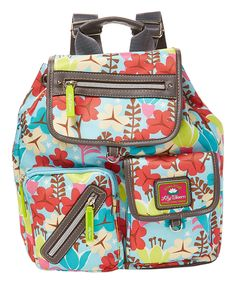 Water Lily Riley Backpack by Lily Bloom #zulily #zulilyfinds