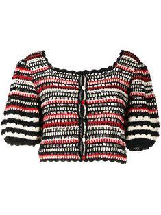 Crochet Jacket, Crochet Blouse, Knit Crochet, Crochet Tops, Crochet Bikini Top, Blouse And Skirt, Cropped Cardigan, Ulla Johnson, Crochet Fashion