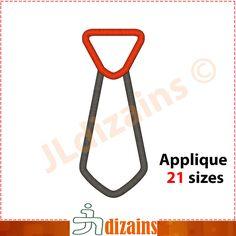 Necktie Applique Design  Machine Embroidery Design
