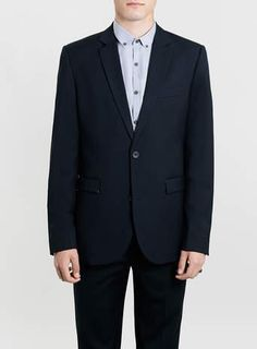 Navy Slim Fit Suit - Blue Suits - Suits - TOPMAN #suit #formal #men #covetme