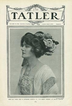 Lily Elsie - The Tatler - June 1907 Vintage Photos Women, Vintage Girls, Vintage Images, Vintage Pictures, Lilie Elsie, Edwardian Era, Victorian Women, Edwardian Fashion, Vintage Fashion
