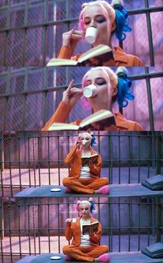 """Margot Robbie (Harley Quinn) in """"Suicide Squad"""" Der Joker, Harley Quinn Comic, Joker And Harley Quinn, Dc Movies, Good Movies, Movies And Tv Shows, Suiside Squad, Hearly Quinn, Citations Film"""