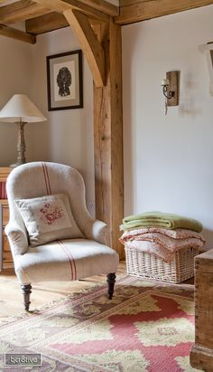A cozy room decorated with country pinks - Border Oak Homes -