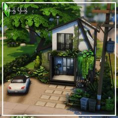Sims 4 House Building, Sims 4 Gameplay, Modern Tiny House, Sims 4 Build, Sims 4 Houses, Concrete Floors, Modern Furniture, House Design, Flooring