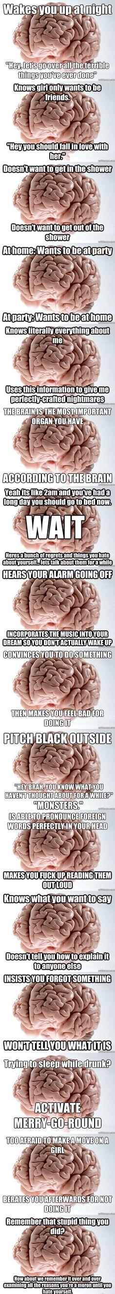 Evil brain! HAHAHAHA!