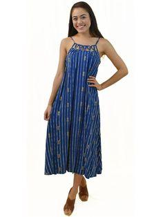 Pineapple Navy Rayon Leilani Maxi Dress