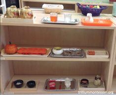 October Theme Fine Motor Montessori Shelf at Trillium Montessori