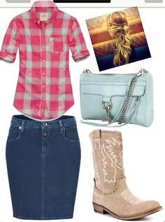 Cute casual cowgirl outfit :P Wednesday night church??   Created by me Devia!