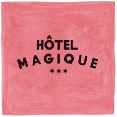 Hotel Magique handpainted logo by Milou Neelen