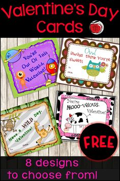 Free Valentine's Day cards you can give to your students. Easy to individualize with 8 different designs to choose from. Have a few extras ready to go so if a student forgets their cards you can have replacements. Just print, cut, and hand out.