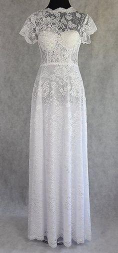 d98da61d5e Lisa Nieves White Lace Bridal Gown Formal Wedding Dress Size 6 (S). Lisa.  Tradesy