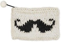 Moustache Knit Purse how could I not pin this!
