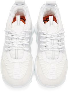 detailed look 48ac2 39d11 Versace - White Chain Reaction Sneakers