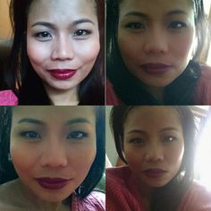 Plum lips, great for winter holiday look