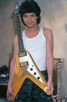 """Eddie Van Halen acquired  a mint condition 1958 Gibson Flying V from famed vintage guitar collector Dan Martin. Eddie went on to buy many guitars from Martin, who passed way in 2008. Dan Martin bougt the guitar in a dubious way from a unsuspecting guitarist who wasn't aware of its worth, and turned around and sold it to EVH. Eddie used the guitar on """"Hot For Teacher,"""" """"Drop Dead Legs,"""" and """"Girl Gone Bad,"""" and """"Top of the World."""""""