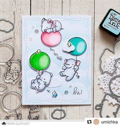 """1,399 Likes, 19 Comments - Mama Elephant (@mamaelephant) on Instagram: """"hi! Just flying by. Card by @umichka for #mamelephant #stampede with #flywithme #clearstamps…"""""""