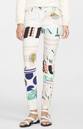 KENZO Print Stretch Cotton Twill Pants