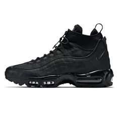 wholesale dealer c61c4 b9fb1 Nike Air Max 95 Sneakerboot Mid BLACK BLACK Zip 806809-002 Mens Trainers