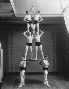 Gymnastic group, Montreal, 1891
