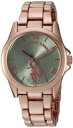 0bd37ff6031 US Polo Assn Womens Quartz Metal and Alloy Casual Watch ColorRose GoldToned  Model USC40039  gt