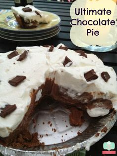 The ultimate and easy Chocolate Pie Recipe