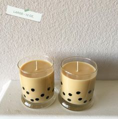 Cute Candles, Best Candles, Diy Candles, Scented Candles, Candle Jars, Cute Room Decor, Bubble Tea, Milk Tea, Natural Essential Oils