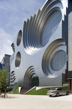 Kring Kumho Culture Complex / Unsangdong Architects Best Picture For facade arquitectura For Your Taste You are looking for something, and it is going to te Unusual Buildings, Interesting Buildings, Amazing Buildings, Modern Buildings, Office Buildings, Modern Houses, Luxury Houses, Modern Skyscrapers, Architecture Unique