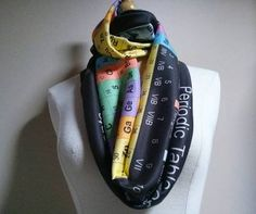 Periodic Table of Elements scarf.  Beyond awesome.