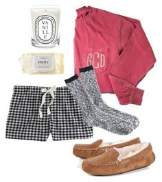 Beauty Sleep by emmagrace0308 on Polyvore featuring J.Crew, UGG Australia, philosophy and Diptyque