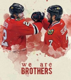 Brent Seabrook and Duncan Keith