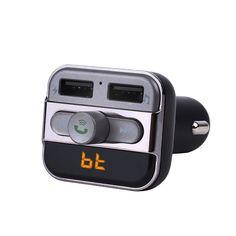 Pumpkin LED Bluetooth Handsfree Car Kit FM Transmitter Modulator Wireless Music and Dual Charging Port Car Charger #HespiridesGifts #amazing #beautiful #best #bestoftheday