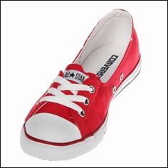 These Converse Chuck Taylor Dance Lace OX shoes in Red/White are easy to put on and take off! They are comfortable and the perfect slip on Converse shoe and they look great!